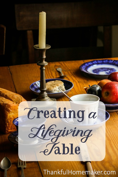 Your table can be a place to teach your children to have an attitude of gratefulness, build friendships with one another, and just create a place of love and togetherness and belonging. @mferrell