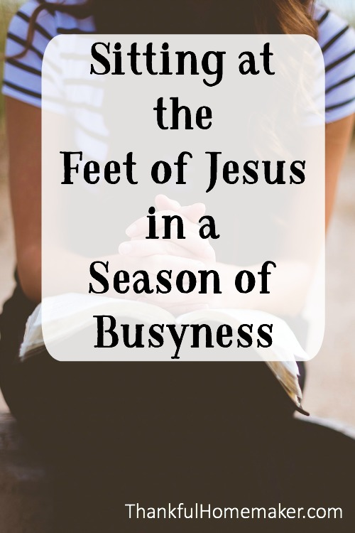 How many times when life is busy and I seem to be in the midst of chaos and continually in a hurry is sitting at the feet of Jesus the last item on my list? @mferrell