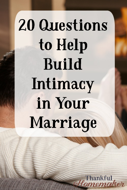 questions to ask intimacy