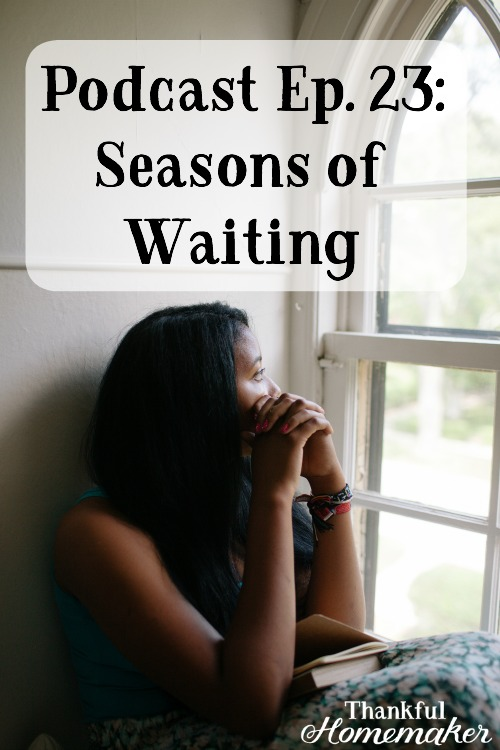 "As I'm sharing this episode I'm finding myself in a waiting room on the Lord, and it's been a long one, and I don't see an end near.  It has reminded me that when I gave myself to Him, I gave up my ""right"" to be in charge. The reality is we never were in charge anyway; we just came to that understanding when the Lord opened our eyes to His sovereign control over our lives. #seasonsofwaiting #waitingontheLord @mferrell"