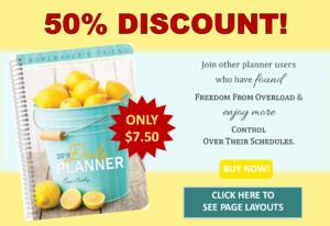 Homemaker's Friend Half-Price Planner Sale. @mferrell