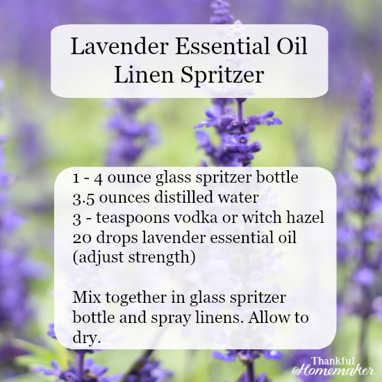 Lavender Essential Oil Linen Spritzer #lavender #essential oils #spritzer-formula @mferrell