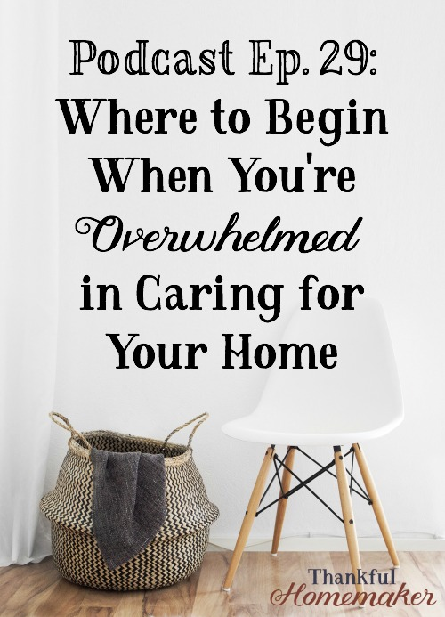 I know there are many listeners out there drowning in clutter and chaos and you don't know where to begin. My hope is to give you some encouragement and practical steps to begin to get some order in your home. #overwhelmed #homemaking #cleaning @mferrell