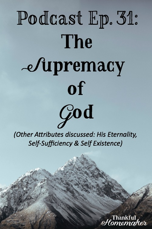 It has been said that what comes into a person's mind when he or she thinks about God is the most important thing about him or her. #attributesofgod #supremacyofgod @mferrell
