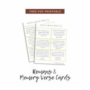 Romans 8 Memory Verse Cards @mferrell