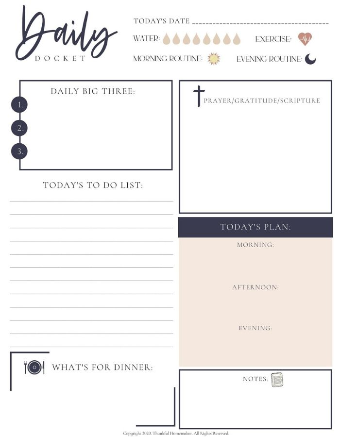 Free Daily Docket Planner Free PDF Download @mferrell