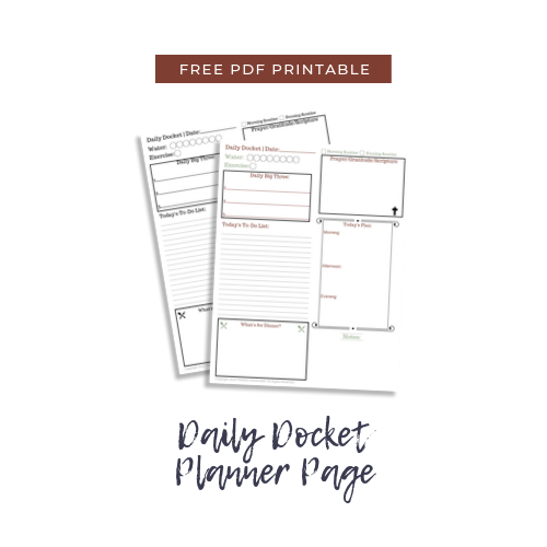 Daily Docket Planner Free PDF Download @mferrell
