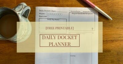 Daily Docket Free PDF Printable @mferrell