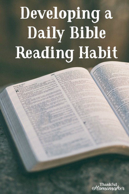 Developing a Daily Bible Reading Habit #biblereadingplan #biblereading #yearlybiblereading @mferrell
