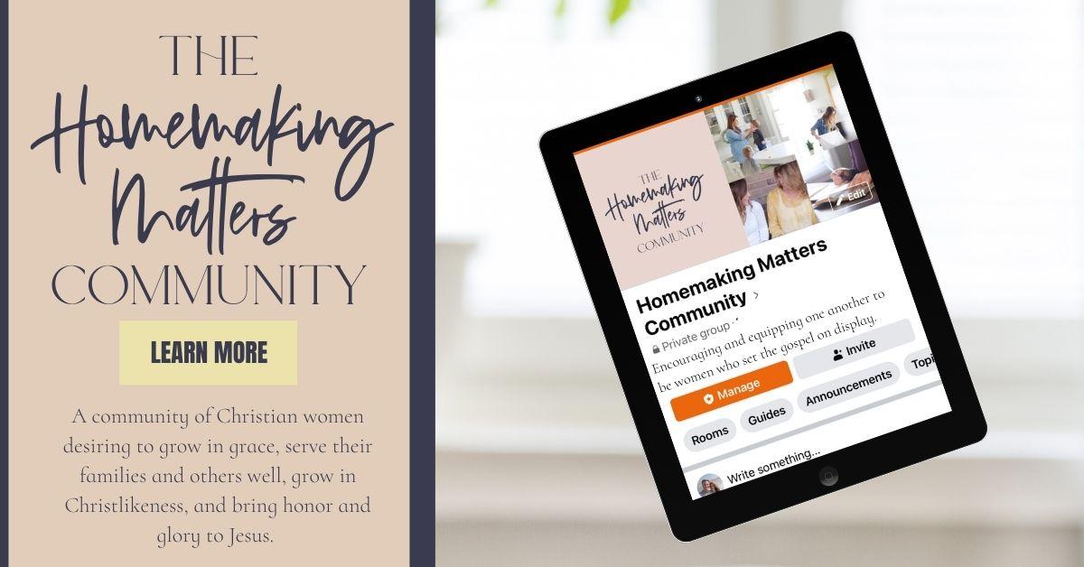 Homemaking Matters Community