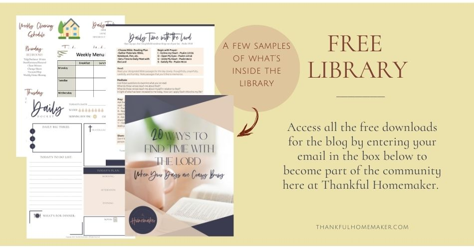 Welcome to our library of free downloads. When you join our community you'll receive access to printables to help you in your homemaking. @mferrell