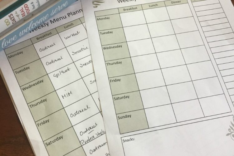 Free Weekly Menu Planning PDF @mferrell