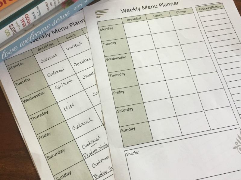 Free Weekly Menu Planning PDF @mferrell