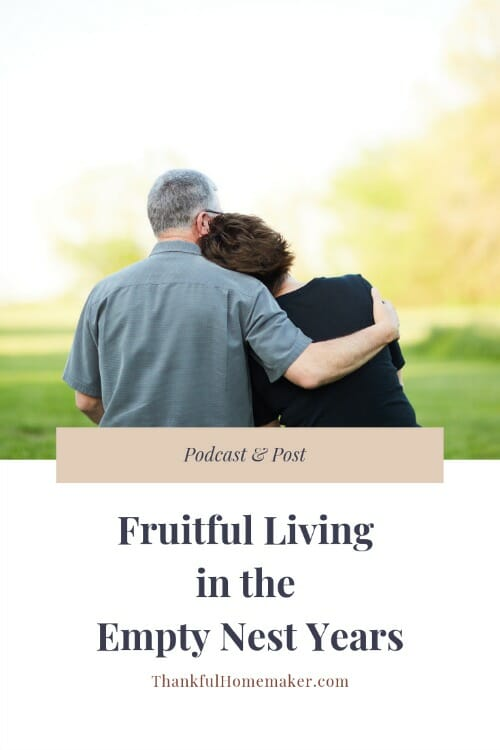 What does life look like to live a fruitful life in the empty nest years?  What do I do now? What does my day to day life like? @mferrell