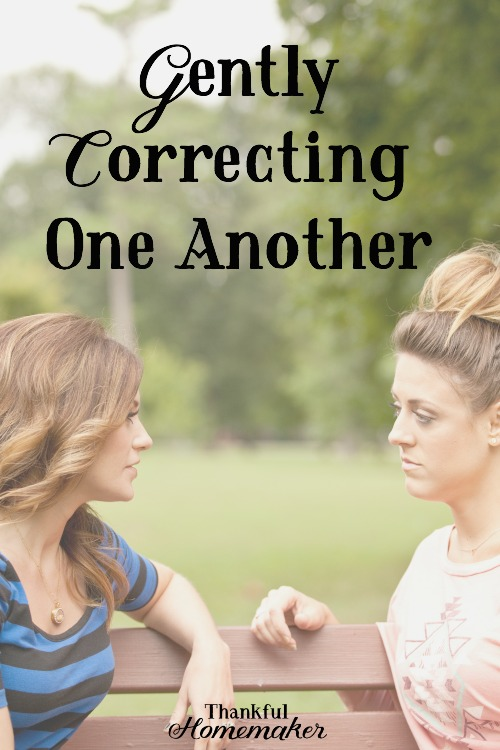 Gently Correcting One Another -People are fragile, and we must take great care in speaking truth to one another, especially when we see a sin that needs addressing in one another's lives. @mferrell