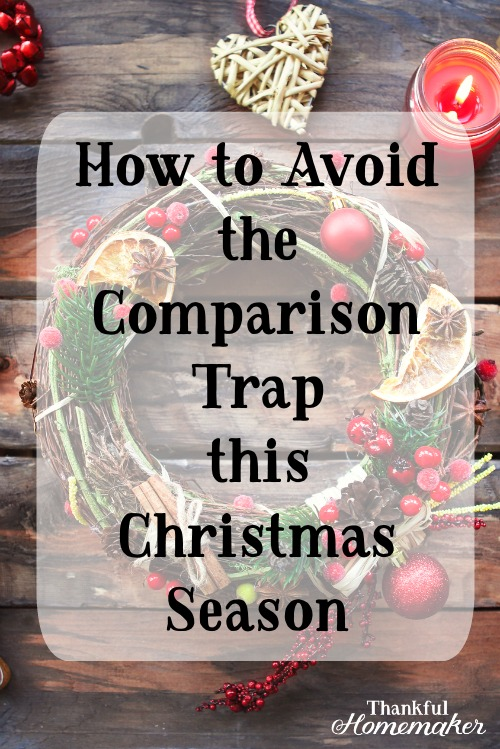 Comparison robs you of your energy and joy to love and care for your own family with a heart of joy and thanksgiving. @mferrell