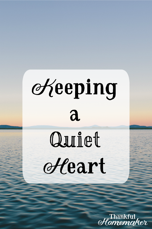 Keeping a Quiet Heart -He can calm the storm with a word and He can calm the storm in my heart as well. Because of Christ in us, we too can have quiet hearts in the midst of the storms of life. @mferrell