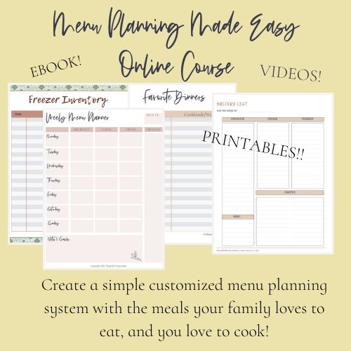 Menu Planning Made Easy Course @mferrell