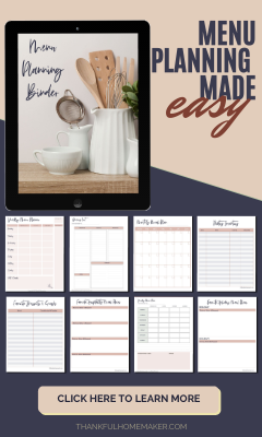 MENU PLANNING MADE EASY SIDEBAR AD
