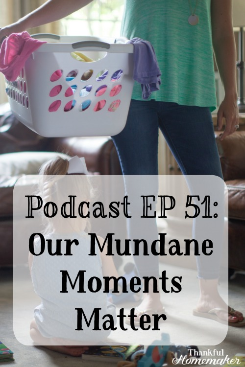 Mundane tasks are what most of our days are made up of. Once we're in Christ there is no separation of secular or sacred. Every moment is a holy moment that God has ordained. #mundane #homemaking #homemakers #mothers @mferrell