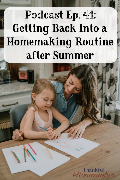 Are you struggling with getting back into a routine after the summer months? I know for us our summer months are a bit more spontaneous and flexible so I'm out of a daily routine quite often. #homemakingroutines #routines #morningroutine @mferrell