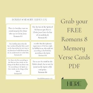 Romans 8 Memory Verse Cards Free PDF @mferrell