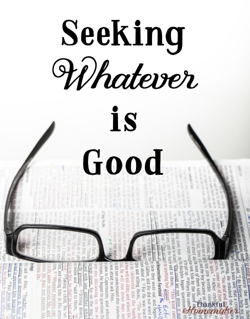 As believers, we all desire to be discerning and wise in our choices. As we mature and grow in our knowledge of the scriptures the hope is we will use that information to make choices in line with God's will.  #discernment #allthatsgoodreview @mferrelll
