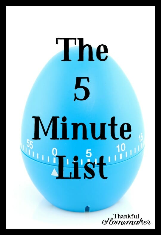 My 5-minute list is a go-to in those moments that you find yourself waiting and not sure what to do with those few extra minutes. @mferrell