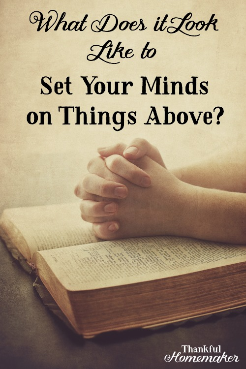 Being heavenly minded will guide our earthly responses to any situations and relationships the Lordhas put in our paths.@mferrell