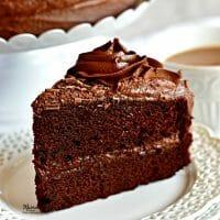 Easy Gluten-Free Chocolate Cake {Dairy-Free Option}